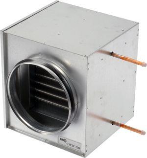 CWW 250 vizes fűtőkalorifer kör keresztmetszetű légcsatornába (NA 250mm)