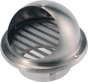 HBLR-E-R 125 Rozsdamentes acél esővédő rács rovarhálóval.KIFUTÓ SZÉRIA
