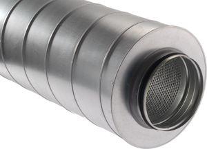 HCSK 160 /1000 Kör keresztmetszetű merev hangcsillapító (1m)