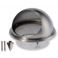 BLR-E-RL 100 rozsdamentes acél esővédő rács madárhálóval