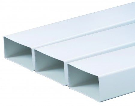 KP75-05 lapos PVC légcsatorna 75X150mm/0,5m