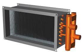 CWAR 600x300 melegvizes fűtőkalorifer négyszög légcsatornába