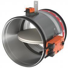 CR120°+BFLT230 motoros tűzcsappantyú NA 100mm 230V
