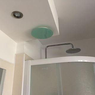 SKVE 100 KR Üveg tányérszelep kerek frontlappal,fényes,vagy matt felülettel NA 100 mm csonkkal