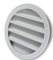 BLRGD 400 Kör keresztmetszetű alumínium esővédő zsalu fix lamellákkal