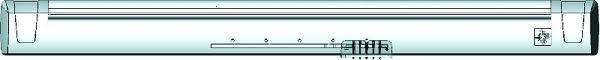 EFR 175 Szett: Önszab. kézi beáll. légbevezető + huzatkorlátozó esővédő.EFR 174 + AEA100, lez., fehér