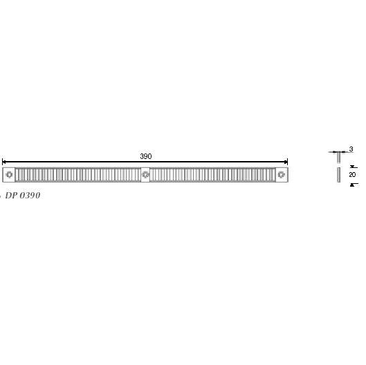 DP 0390 Keskeny rovarrács 3mm, fehér